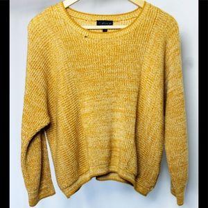 Mustard Topshop Knit Sweater - Size 8